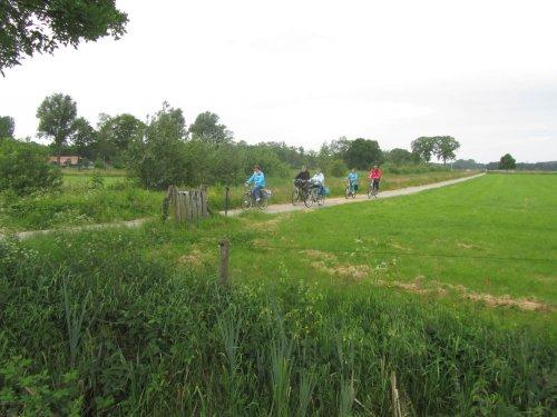 Het platteland nabij Zwolle